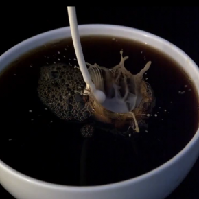 Coffee & Cream in High-speed Slow Motion